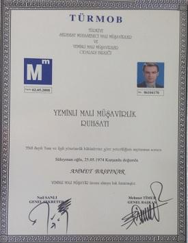 Yeminli mali müşavir sertifikası